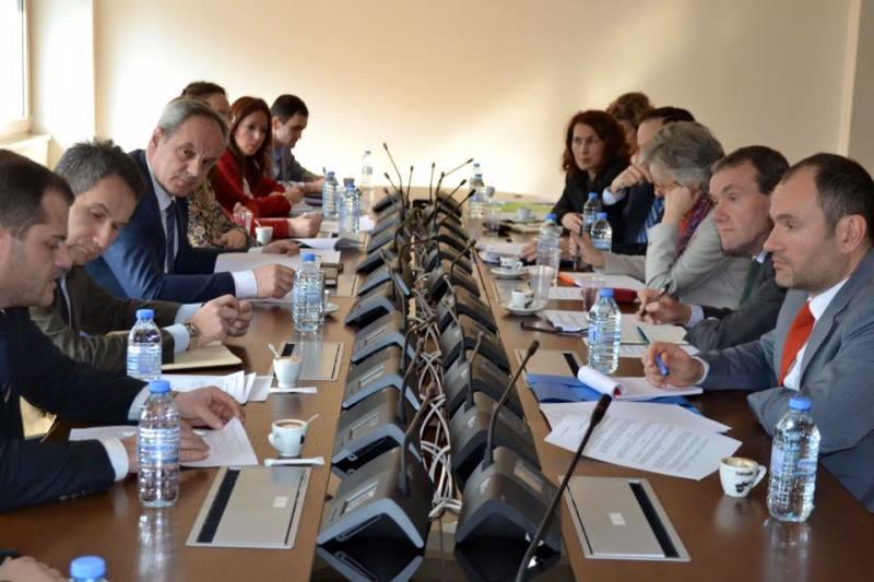 Средба на претставници на венецијанската комисија во Министерството за правда