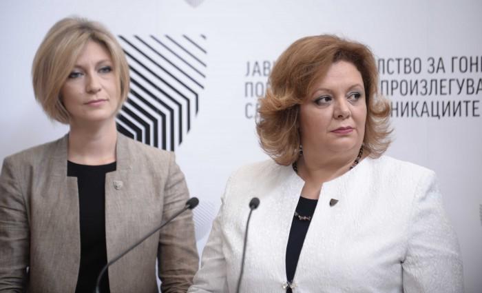 Ленче Ристоска и Катица Јанева, прес за вториот Извештај