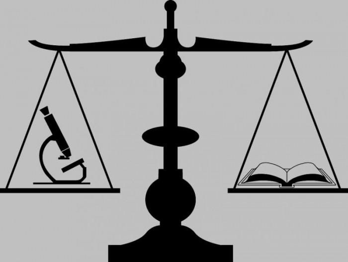 Односот помеѓу правото и науката